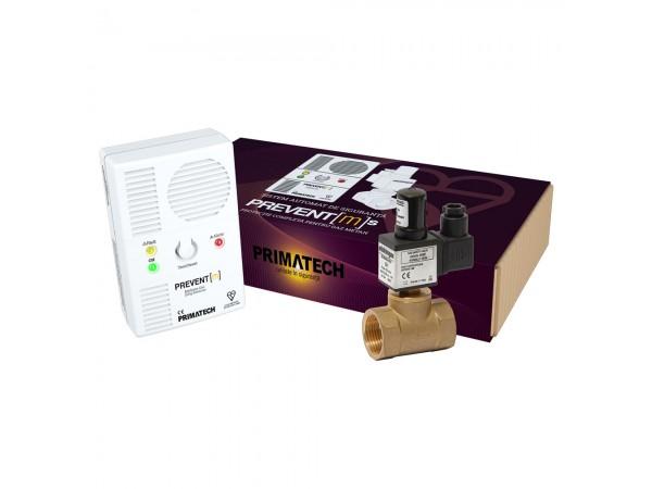 Detector de gaz metan Prevent M cu electrovalva de alama 3/4, echipament complet, transport gratuit